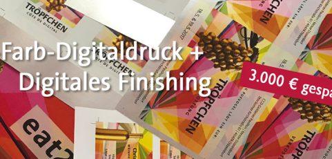 5-Farb-Digitaldruck  mit Digitaler Stanze
